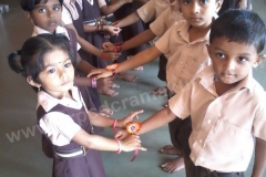 Celebration of Rakshabhandhan at Kinder Garten